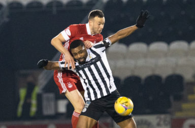 Jon Obika in action for St Mirren