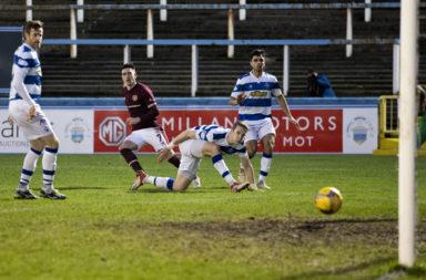 Jamie Walker scores for Hearts against Morton