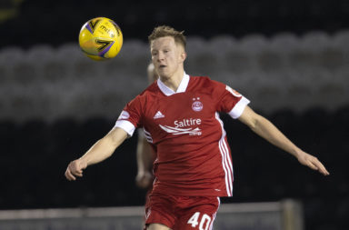Ross McCrorie in action for Aberdeen