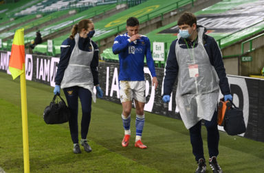 Michael O'Halloran picked up an injury against Celtic