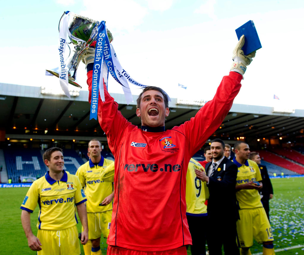 Bell was Kilmarnock's goalkeeper in the 2012 League Cup Final win