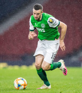Murphy is on loan at Hibs from Rangers.