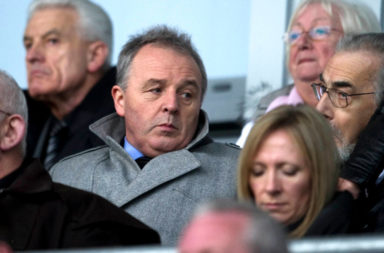 10/11/12 CLYDESDALE BANK PREMIER LEAGUE.ST MIRREN v ABERDEEN.ST MIRREN PARK - PAISLEY.Celtic Chief Scout John Park takes his place in the stand