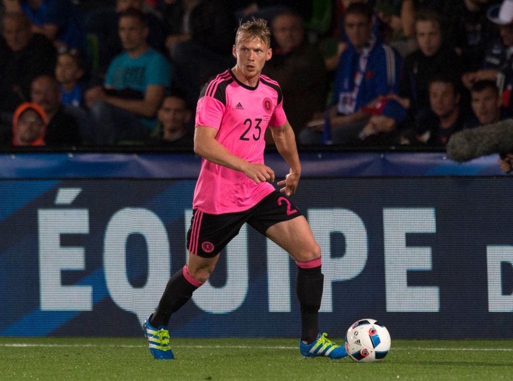 04/06/16 EURO 2016 WARM-UP MATCH.FRANCE v SCOTLAND.METZ - FRANCE.Scotland debutant Stephen Kingsley