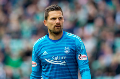 19/05/19 LADBROKES PREMIERSHIP.HIBERNIAN v ABERDEEN (1-2).EASTER ROAD - EDINBURGH.Goalkeeper Tomas Cerny in action for Aberdeen