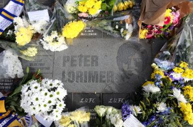Tributes to Peter Lorimer at Elland Road home of Leeds United