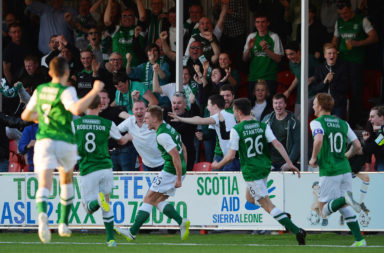 Hamilton Academical v Hibernian - Scottish Premiership Play-off Final: First Leg
