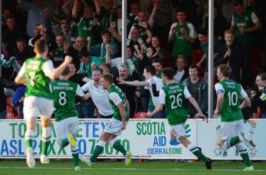 Hamilton Academical v Hibernian - Scottish Premiership Play-off Final: First Leg