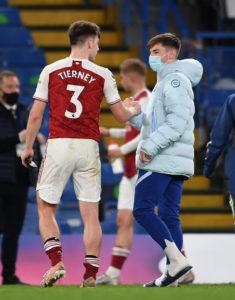 Both the Arsenal and Chelsea men start
