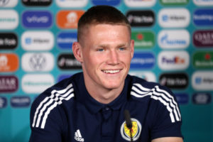 The Manchester United man is in defence for Scotland against England.
