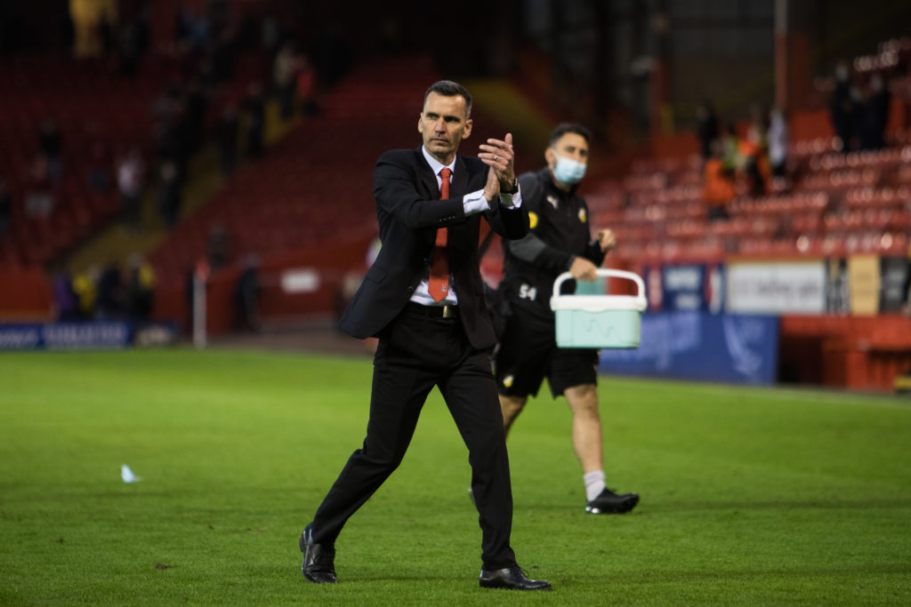 Stephen Glass comments on Aberdeen supporters' pitch invasion after last-minute winner