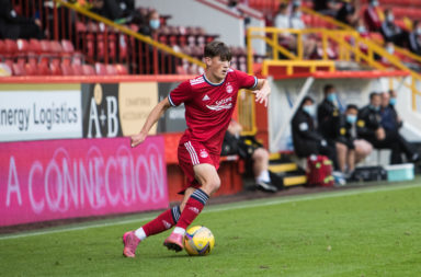 calvin ramsay Aberdeen v BK Hacken - UEFA Conference League Second Qualifying Round: First Leg