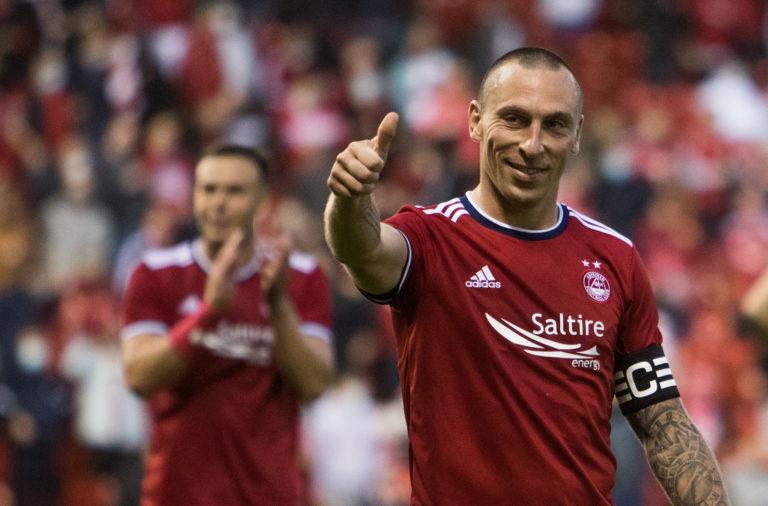 scott brown Aberdeen v BK Hacken - UEFA Conference League Second Qualifying Round: First Leg