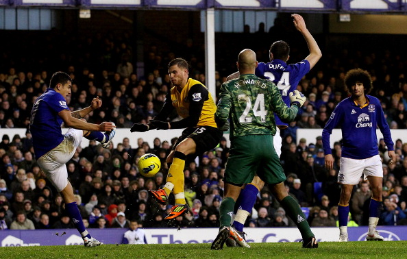 david goodwillie clyde Everton v Blackburn Rovers - Premier League